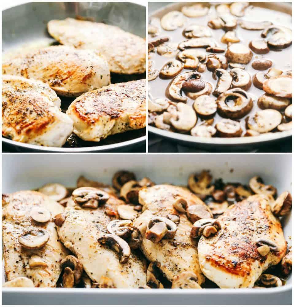 Creamy Mushroom Chicken With Cheese
