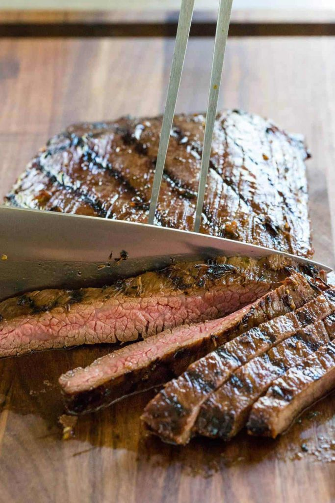 Grilled Flank Steak with Asian Marinade