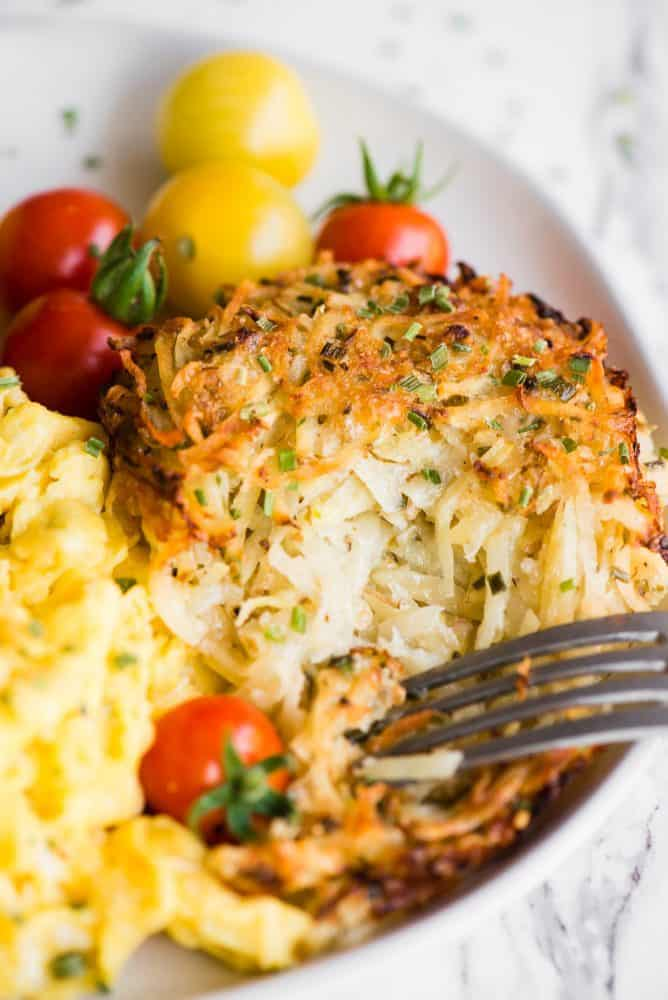 Parmesan Baked Hash Browns Recipe