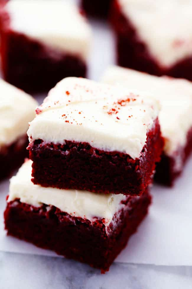 Red Velvet Brownies with Cream Cheese