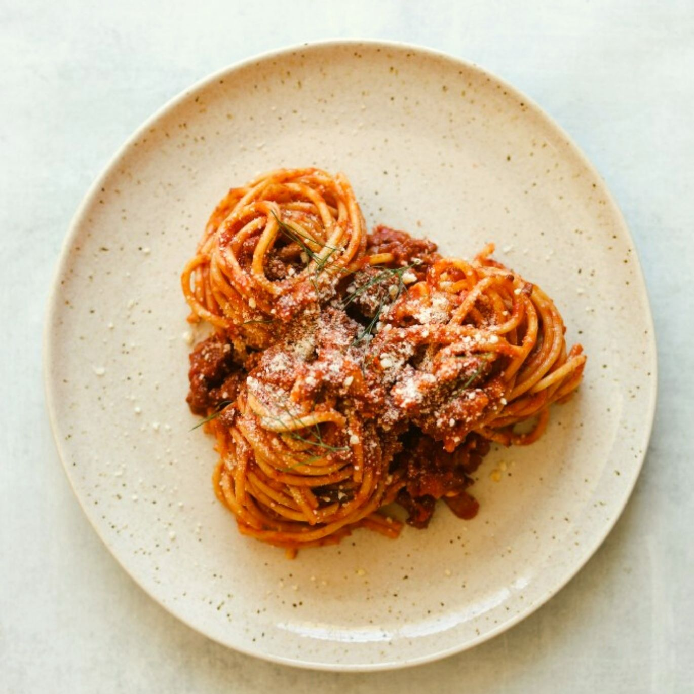 Pork and Fennel Spaghetti Bolognese