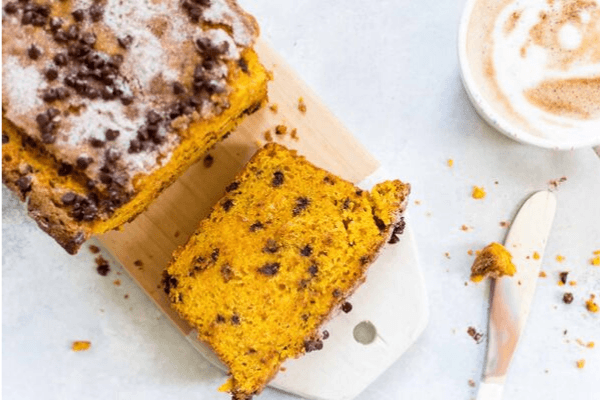 Chocolate Chip Pumpkin Bread with Vegan Version
