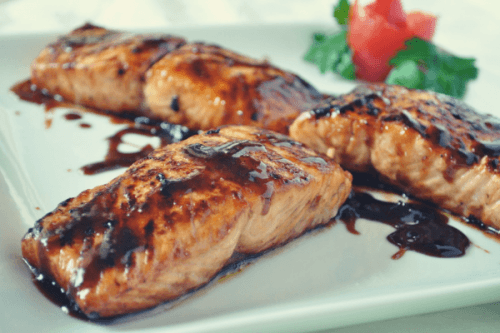 Honey Glazed Salmon with Apple Cider