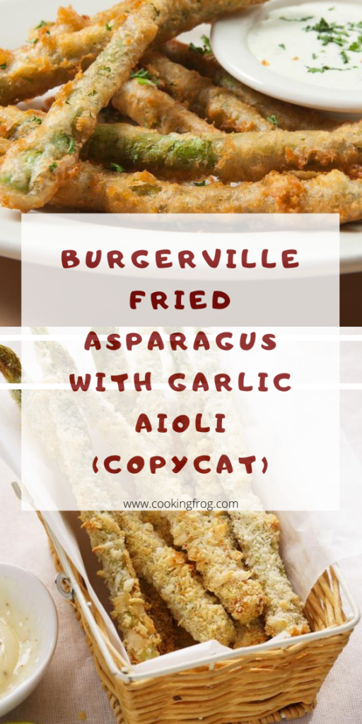 Burgerville Fried Asparagus with Garlic Aioli (Copycat)
