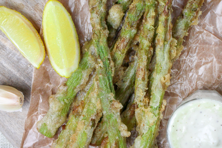 Burgerville Fried Asparagus with Garlic Aioli