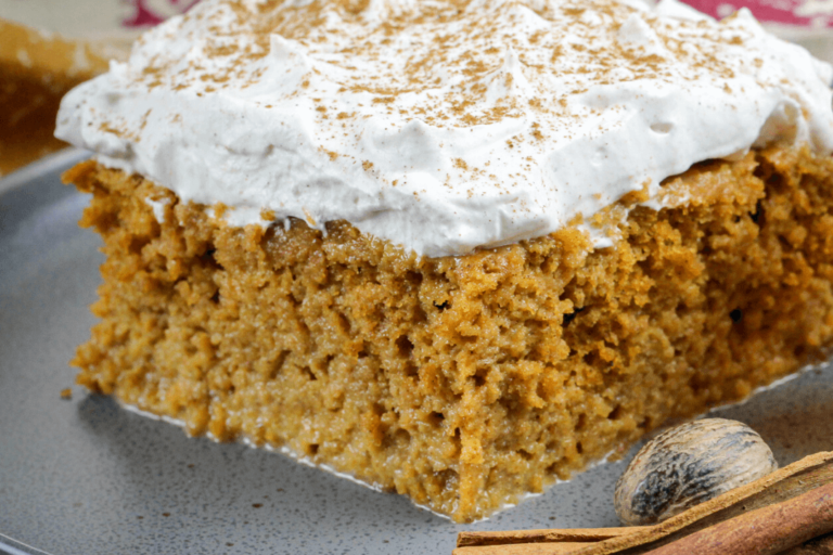 Pumpkin Tres Leches Cake With Spicy Cream