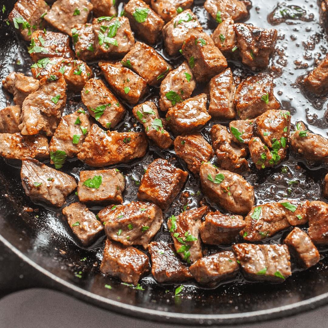 Garlic Butter Steak Bites With Spicy Marinade