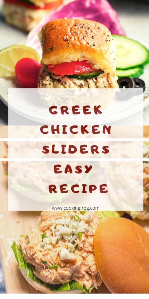 Greek Chicken Sliders Recipe