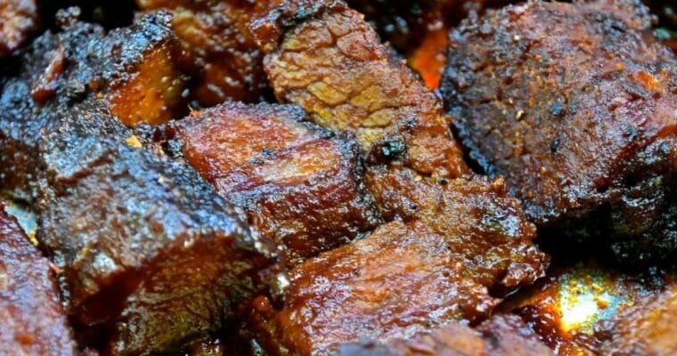 BBQ Brisket Burnt Ends Easy Recipe