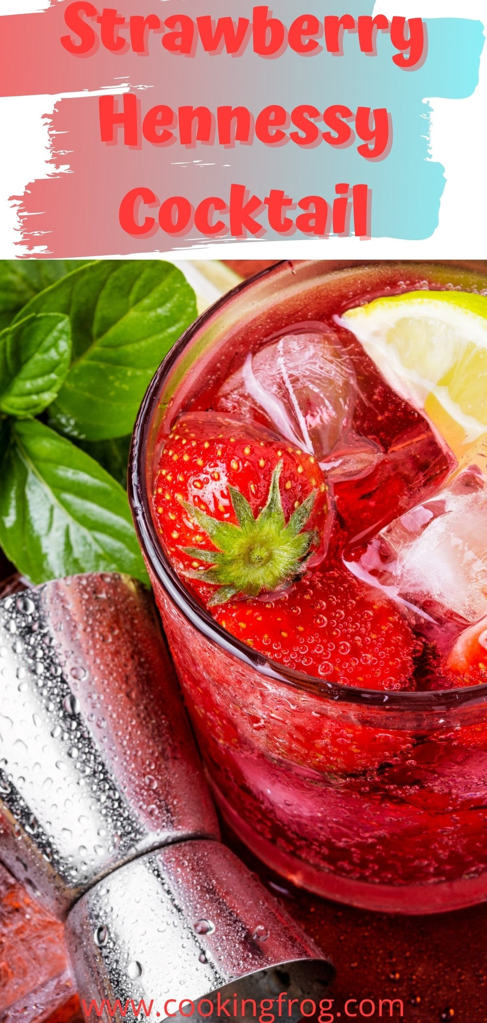 Strawberry Hennessy cocktail